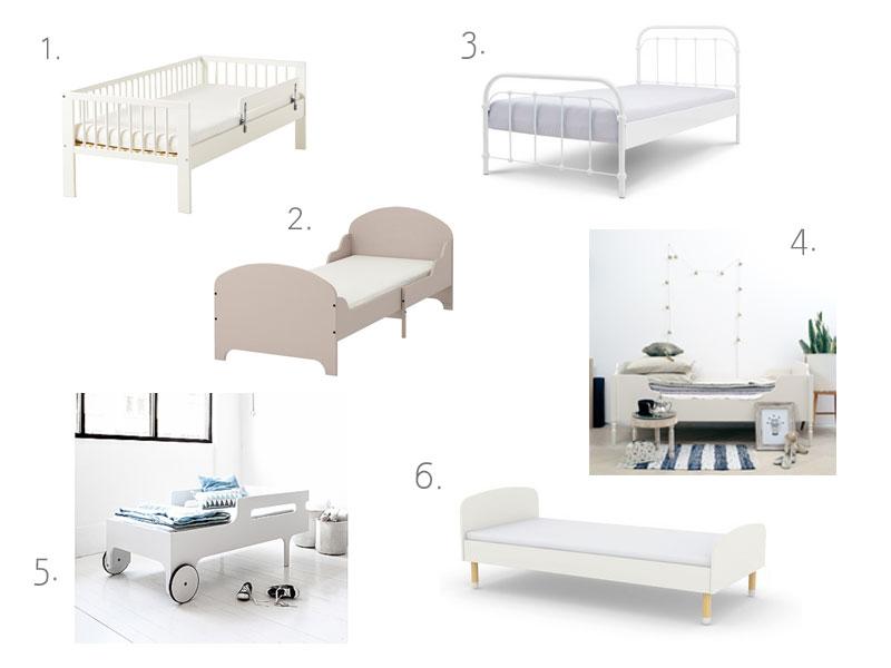 łózko dla malucha, łóżko dla większego dziecka, dorosłe łóżko dla dziecka, łóżeczko, tapczan, dla dzieci, białe łóżko, łóżko retro, modne łóżka dla dzieci