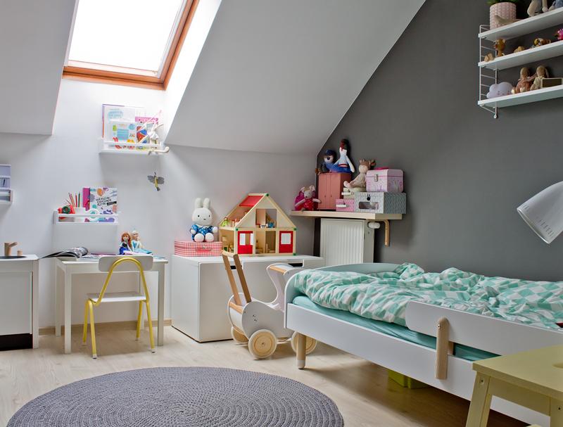 kolorowy pokoik, pokój dla dziecka pokój dziecięcy, pokój dziecka w stylu skandynawskim